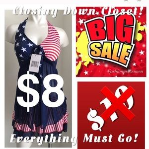 Other - 🎉🎉HP 5/3🎉🎉New - America Flag Bikini